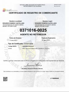 commercial certificate